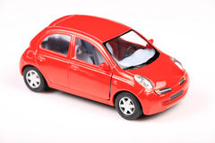 Nissan micra. Car shot in studio with white background Royalty Free Stock Photo