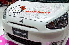 Nissan MIRAGE HELLO KITTY Limited Edition. Royalty Free Stock Images
