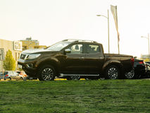 Nissan Navara Frontier for sale at car delaer Stock Photography
