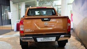 Nissan Navara modelnp300 van de achtermening stock foto's