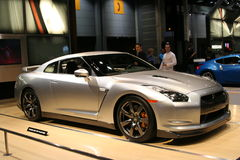 Nissan  new GT-R in the Auto Show 2009. CHICAGO - FEBRUARY 18 : Nissan launched the new GT-R in the U.S.A. as an ultimate super car.   displayed at the Auto Show Stock Photo