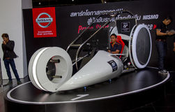Nissan Nismo driving simulator in Motor Show stock photo