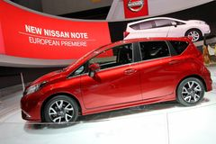 Nissan note car Stock Image