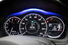 Nissan Note Dashboard Stock Afbeelding