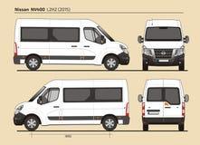 Nissan NV400 Passenger Van L2H2 2015 Royalty-vrije Stock Foto