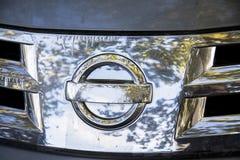 Nissan pathfinder metal front radiator grill Stock Image