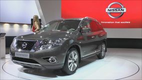 NISSAN PATHFINDER. MOSCOW-AUGUST 28: European premiere of the NISSAN PATHFINDER at the Moscow International Motor Show on August 28,2014 in Moscow