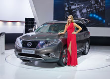 Nissan Pathfinder. MOSCOW-SEPTEMBER 2: Nissan Pathfinder at the Moscow International Automobile Salon on September 2, 2014 in Moscow, Russia Royalty Free Stock Images