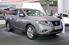 Nissan Pathfinder. MOSCOW-SEPTEMBER 2: Nissan Pathfinder at the Moscow International Automobile Salon on September 2, 2014 in Moscow, Russia Royalty Free Stock Photography