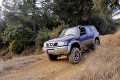 A Nissan Patrol in action Stock Photo