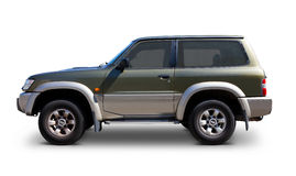 Nissan Patrol off-road four wheel drive. Nissan Patrol offroad four wheel drive side view - Includes separate clipping paths for body, windows and realistic Stock Photo