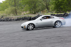 Nissan. Picture of nissan 350z during drifting competition at napierville dragway Stock Photography