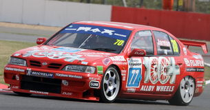 Nissan Primera, touring car británicos Imagenes de archivo