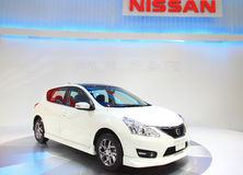 Nissan Pulsar  BANGKOK - MOTOR EXPO 2012 Stock Photo