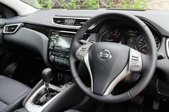 Nissan Qashqai interior 2014 model Stock Image