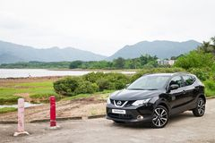 Nissan Qashqai test drive in Hong Kong Royalty Free Stock Photos