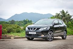 Nissan Qashqai test drive in Hong Kong Stock Image