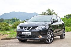 Nissan Qashqai testa przejażdżka w Hong Kong obraz stock