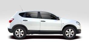Nissan Qasqui blanco aisló imagen de archivo libre de regalías