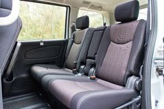 Nissan Serena 2014 rear seat Royalty Free Stock Photos