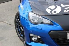 Nissan Silvia bij de afwijkingsconcurrentie De zomerkop stock afbeelding