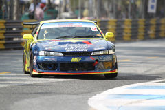 Nissan Silvia S14 action in thailand super series Royalty Free Stock Photo