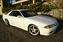 Nissan skyline. Picture of the white nissan skyline 1990 Stock Images