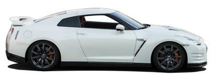 Nissan Skyline bianco GTR su un fondo trasparente Fotografia Stock Libera da Diritti