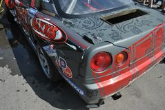 Nissan skyline r34 Competitions on tuned cars in drift rds Stock Images