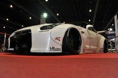 Nissan Skyline R35 GT-r Auto am 3. internationalen autosalon 2015 Bangkoks am 27. Juni 2015 in Bangkok, Thailan Lizenzfreie Stockfotos