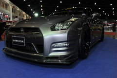 Nissan skyline R35 GT-R  car at The 3rd bangkok international autosalon 2015 on June 27, 2015 in Bangkok, Thailan Royalty Free Stock Images