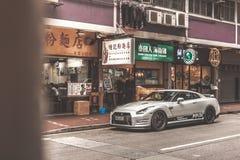 Nissan som ÄR GTR i Hong Kong Royaltyfri Bild