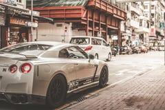 Nissan som ÄR GTR i Hong Kong Arkivfoton