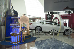 Nissan stand at Duty Free area of Dubai Airport Stock Images