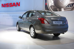 A Nissan Sunny on display at Auto Expo 2012 Royalty Free Stock Photo