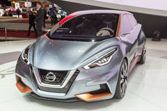 2015 Nissan Sway Concept. Geneva, Switzerland - March 4, 2015: 2015 Nissan Sway Concept presented on the 85th International Geneva Motor Show Royalty Free Stock Photos