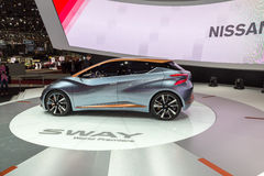 2015 Nissan Sway Concept. Geneva, Switzerland - March 4, 2015: 2015 Nissan Sway Concept presented on the 85th International Geneva Motor Show Stock Photos