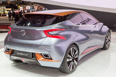2015 Nissan Sway Concept. Geneva, Switzerland - March 4, 2015: 2015 Nissan Sway Concept presented on the 85th International Geneva Motor Show Stock Images
