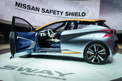 Nissan Sway, Motor Show Geneve 2015. Stock Images