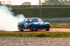 Nissan 240SX drift car Royalty Free Stock Images
