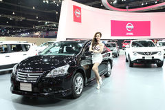 Nissan Sylphy car with Unidentified model Stock Image