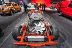 Nissan tauschen Getriebe Stockfotografie