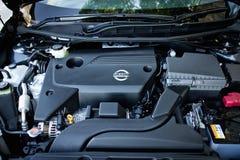 Nissan TEANA motor 2014 Arkivbilder