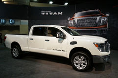 Nissan Titan Pickup Truck arkivbilder