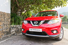 Nissan X-TRAIL 2014 test drive Stock Images