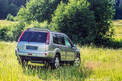 Nissan X-trail in the meadow Stock Photo