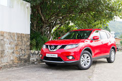 Nissan X-TRAIL 2014 test drive Royalty Free Stock Photos