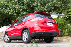 Nissan X-TRAIL 2014 test drive Royalty Free Stock Image