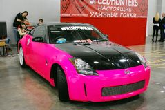 The Nissan 350Z car Z33 at an exhibition in `Crocus Expo`, 2012. Moscow Royalty Free Stock Photo