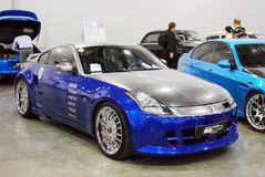 The Nissan 350Z car Z33 at an exhibition in `Crocus Expo`, 2012. Moscow Stock Photography
